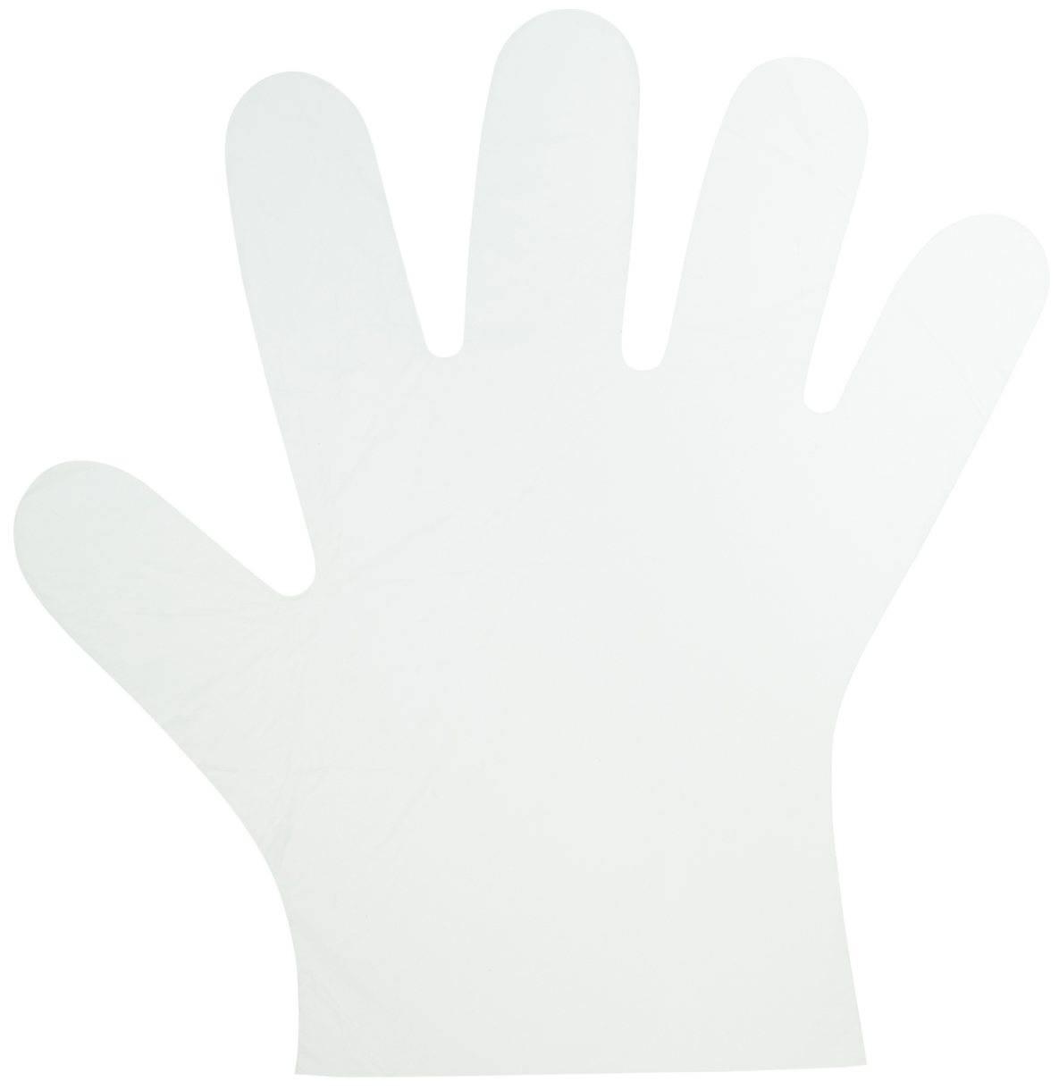 10000 sztuk - Foliowe rękawiczki jednorazowe HDPE 10um grube