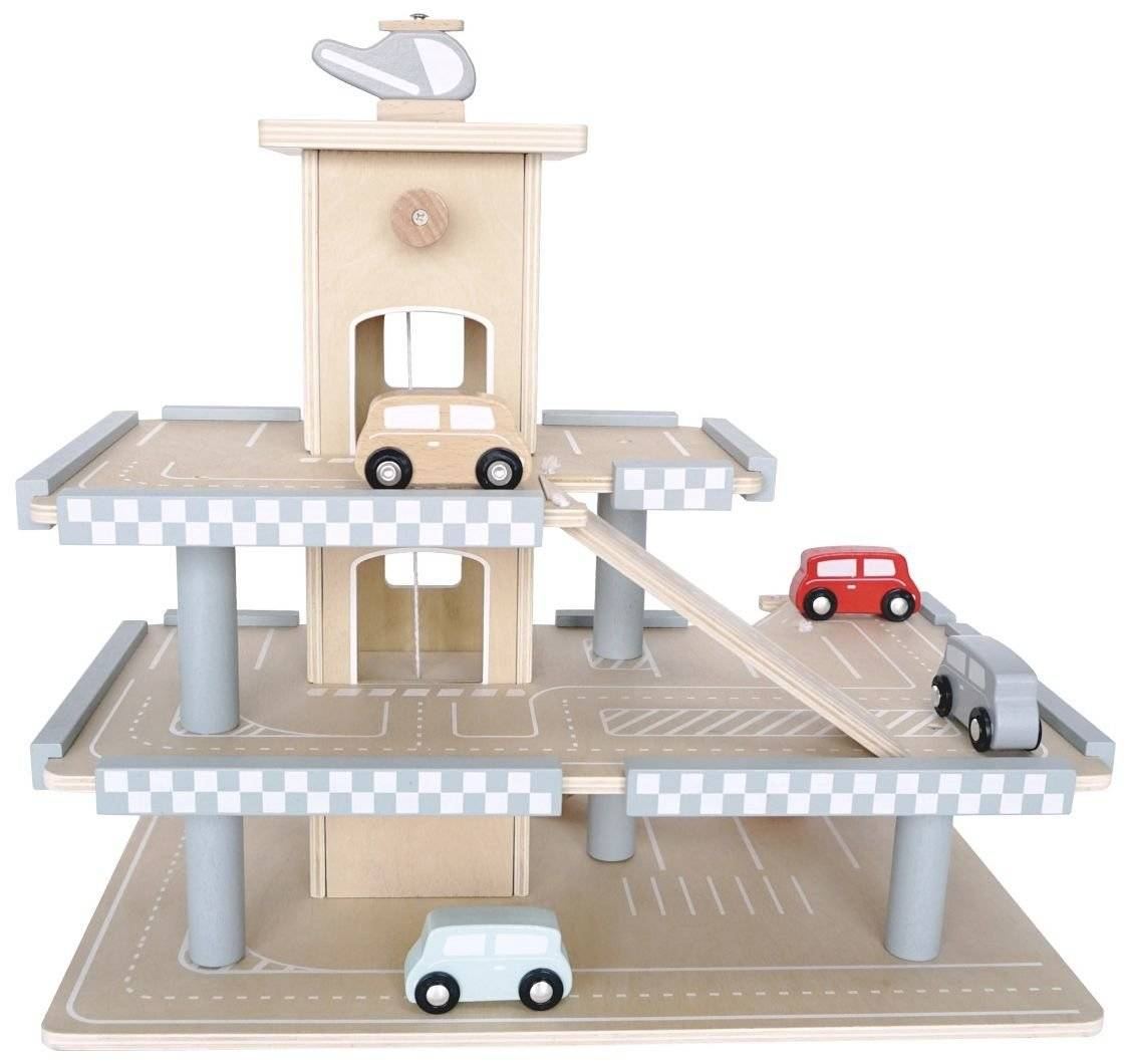 Drewniany Garaż - Parking odkrywcy
