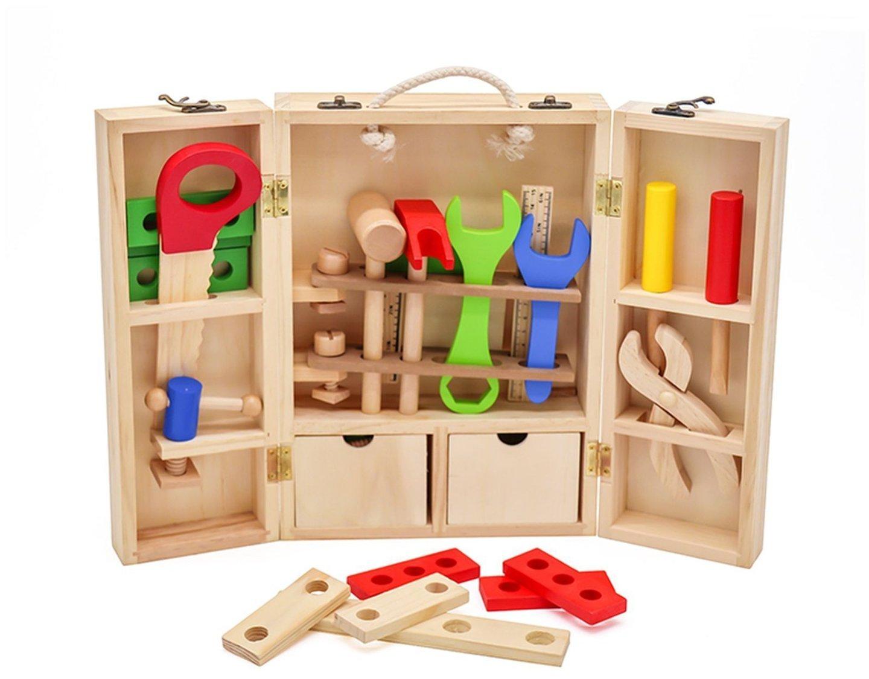 Drewniany warsztat w walizce - walizka narzędziowa