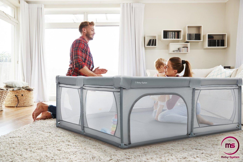 Duży kojec 200 cm x 180 cm - plac zabaw dla dziecka, suchy basen