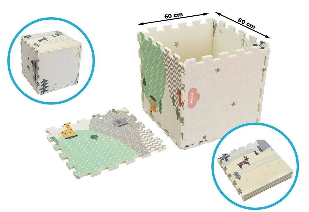 Dwustronna Mata Puzzle 180x120x2cm R11 - Wzorzyste wzgórza i Szara kraina