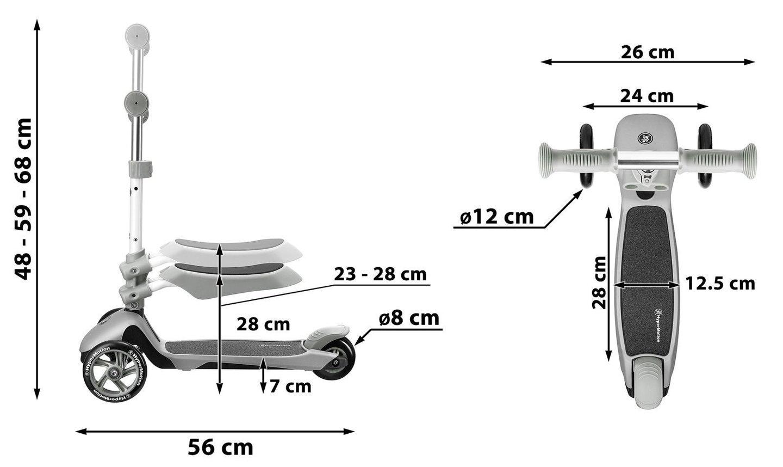 Hulajnoga 3in1 trójkołowa balansowa HyperMotion - różowa