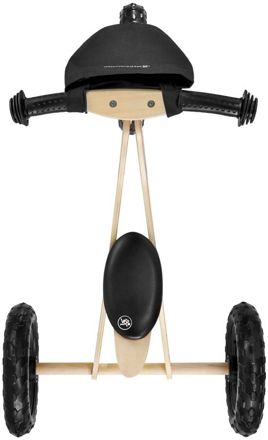 Mały drewniany rowerek 2w1 - trójkołowy i biegowy - HyperMotion GORDON - piankowe koła