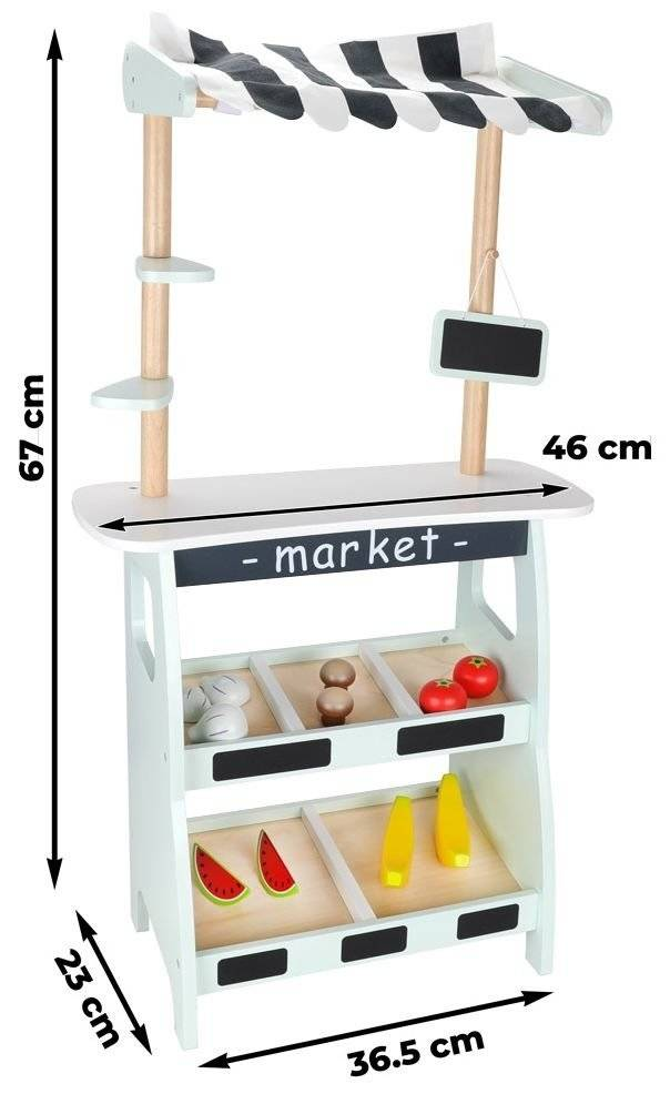 Mały stragan z warzywami i owocami - akcesoria w zestawie