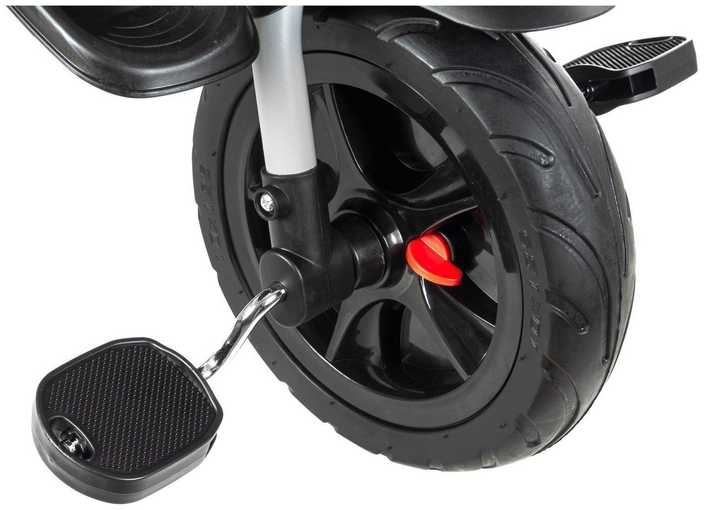 Rowerek trójkołowy HyperMotion TOBI BUZZ - obracany, składany. Kolor: szaro-czarny.