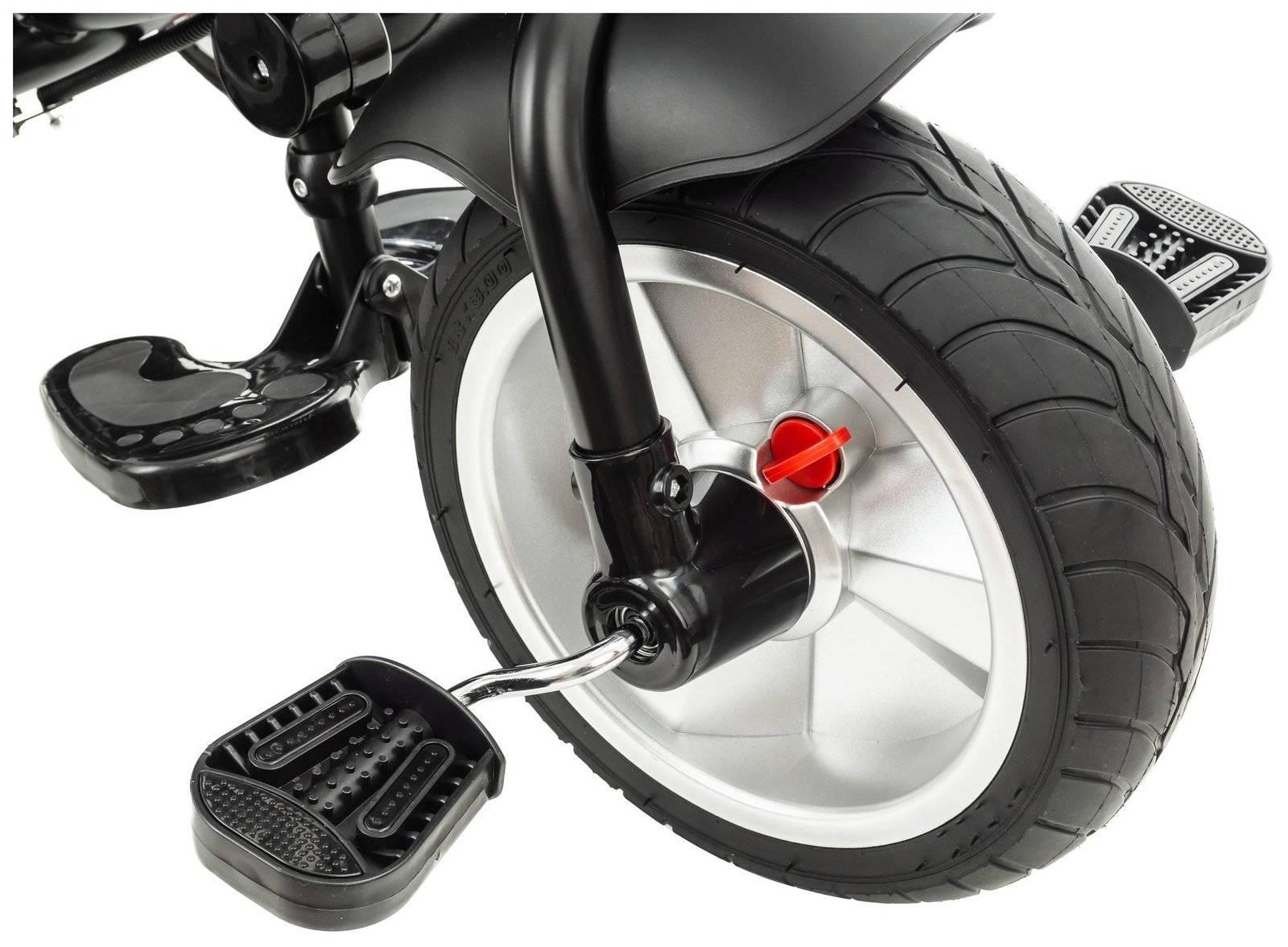 Rowerek trójkołowy TOBI SPINER - kolor czarny - pompowane koła